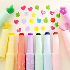 Novel Pen Point Highlighter Pen Set(6 PCS/Set)
