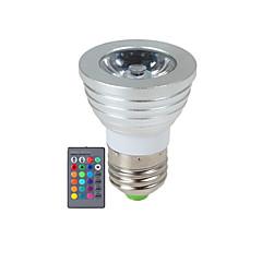 3W E14 / GU10 / E26/E27 LED-spotlights 1 Högeffekts-LED 270 lm RGB Dimbar / Fjärrstyrd AC 85-265 V 1 st