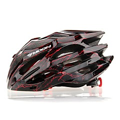 MOON Cykling Black And Red PC / EPS 27 Vents Ljus Cykelhjälm