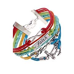 Dames Wikkelarmbanden Uniek ontwerp Meerlaags gevlochten Kostuum juwelen Leder Legering Liefde Anker Sieraden Voor Feest Dagelijks