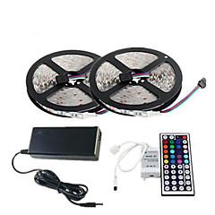 Z®ZDM Waterproof 2×5M 150X5050 SMD RGB LED Strip Light and 44Key Remote Controller (AC110-240V)