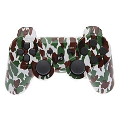 Brown ve PS3 için Yeşil Kamuflaj Dual-Shock Bluetooth V4.0 Wireless Controller
