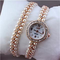 Women's Fashion Watch Bracelet Watch Quartz Alloy Band Elegant Silver Gold
