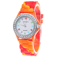 Women's Geneva Rainbow Diamond Drill Blasting Silicone Camouflage New Watch(Assorted Colors) Cool Watches Unique Watches