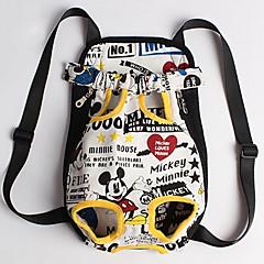 Gato / Dog Tranportadoras e Malas / frente Backpack Animais de Estimação Portátil / Respirável Tecido Preto / Branco