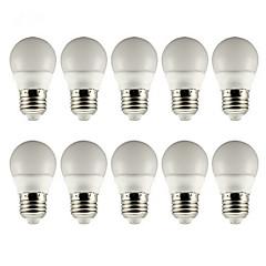 3W E26/E27 LED-globepærer 5 SMD 5730 210lm lm Varm hvid Kold hvid Vekselstrøm 85-265 V 10 stk.