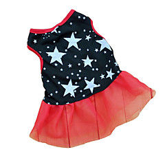 Cat Dog Dress Black Dog Clothes Summer Spring/Fall Stars Casual/Daily