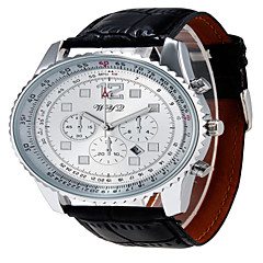 WYQ®Men Fashion Round Dial Alloy Analog Wristwatch with Artificial Leather Strap Assorted Colors Wrist Watch Cool Watch Unique Watch