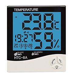 Humidity Mete LCD Digital HTC-8 Temperature Instruments Thermometer Hygrometer Temperature Humidity Meter Clock