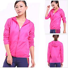 하이킹 윈드브레이커(바람막이) 여성의 방수 / 통기성 / 높은 호흡 능력(>15.001g) / 자외선 방지 / 수분 투과율 / 빠른 드라이 / 먼지 방지 / 초경량 재질 여름 탁텔 옐로우 / 그린 / 레드 / 핑크 / 다크 핑크 / 밝은 블루M