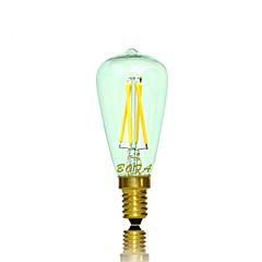 Lampadine globo LED 4 COB NO Tubolare E14 3W Intensità regolabile / Decorativo 200-300 lm Bianco caldo 1 pezzo AC 220-240 / AC 110-130 V