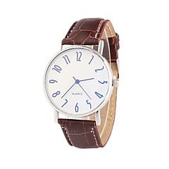 Masculino Relógio de Pulso Quartz PU Banda Preta / Marrom marca-