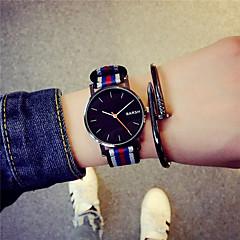Heren Horloge Kwarts Modieus horloge Stof Band Polshorloge