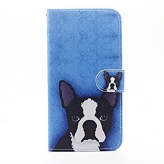 For iPhone 5 Case Wallet / Card Holder / with Stand / Flip / Pattern Case Full Body Case Dog Hard PU LeatheriPhone 7 Plus / iPhone 7 /