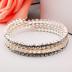 Bracelet Cuff Bracelet Alloy Imitation Pearl Daily / Casual Jewelry Gift Silver / Rose Gold,1pc