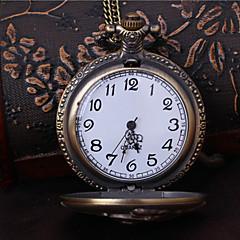 Unisex Pocket Watch England Locomotive Vintage Fashion Quartz Flip Pocket Watch