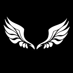 Car Stickers for Rearview Mirror with Angel Wings