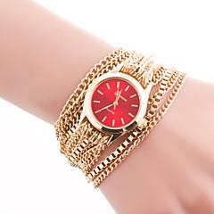 Dames Modieus horloge Armbandhorloge Kwarts Roestvrij staal Band Elegante horloges Goud Koffie Rood Roze Lichtblauw Marine Blauw