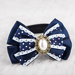 Cat / Dog Collar Adjustable/Retractable / Cute and Cuddly Red / Blue Textile