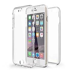 Pour Coque iPhone 6 Coques iPhone 6 Plus Antichoc Transparente Coque Coque Intégrale Coque Couleur Pleine Flexible PUT pouriPhone 6s