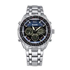 Men's High-end Sports Dual Display Steel Business Watch Wrist Watch Cool Watch Unique Watch Fashion Watch