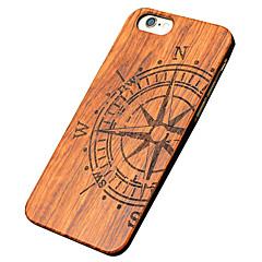 아이폰 자체 / 아이폰 5s / 아이폰 5 울트라 얇은 나무 큰 나침반 보호 뒷면 커버 하드 아이폰 PC 케이스