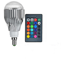10W E14 مصابيح كروية LED A50 1 طاقة عالية LED 600-800 lm RGB جهاز تحكم AC 85-265 V قطعة