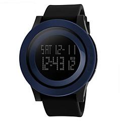 Herren Armbanduhr digital LCD / Kalender / Chronograph / Wasserdicht / Alarm / leuchtend / Stopuhr Caucho BandSchwarz / Grün / Lila /