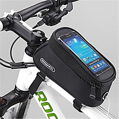 ROSWHEEL Bike Bag 1.5LBike Frame Bag Waterproof Zipper Wearable Moistureproof Shockproof Bicycle Bag PVC Mesh Terylene Cycle BagIphone