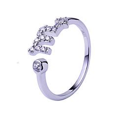 Ringe,Sterling Sølv Justérbar Bryllup / Party / Daglig / Afslappet Smykker Sølv Parringe 1pc,Justerbar Sølv