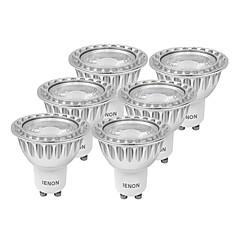 IENON® 6 pcs  5W GU10 LED Spotlight MR16 1 COB 400-450 lm Warm White / Cool White Decorative AC 100-240 V