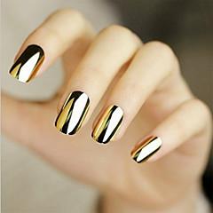 48pcs manicure sticker sticker goud zilver black metal knelpunt