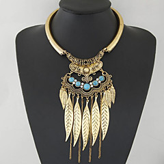 Necklace Statement Necklaces Jewelry Daily / Casual Fashion Alloy Gold / Silver / Blue 1pc Gift