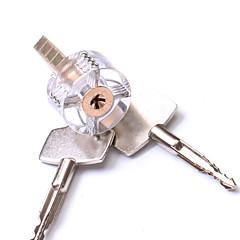 bortskåret gjennomsiktig lås opplæring ferdighet synlig praksis hengelås kobber låssylinder for låsesmed med to nøkler