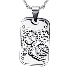 Necklace Pendants Jewelry Daily / Casual Fashion Stainless Steel Silver 1pc Gift