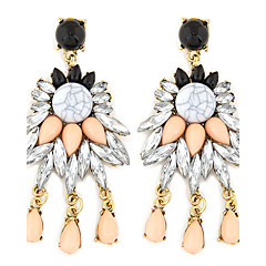 Drop Earrings Gemstone Resin Alloy Fashion Luxury Jewelry White Jewelry Wedding Party Daily Casual 1 pair