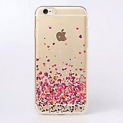 For iPhone 7 etui iPhone 7 Plus etui iPhone 6 etui iPhone 6 Plus etui Ultratyndt Transparent Mønster Etui Bagcover Etui Hjerte Blødt TPU