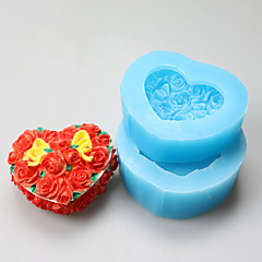 The Heart-shaped Rose  Resin Jewelry Box Chocolate Silicone Molds,Decoration Tools Bakeware