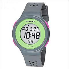 SYNOKE Masculino Relógio de Pulso Digital LCD Calendário Cronógrafo Impermeável alarme Luminoso Plastic Banda Preta Vermelho CinzaPreto