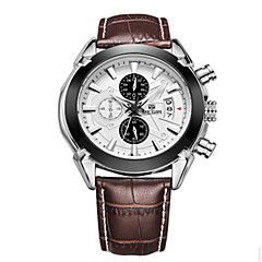 MEGIR® Men's Leather Band 30M Water Resistant Dress Watch Jewelry Wrist Watch Cool Watch Unique Watch