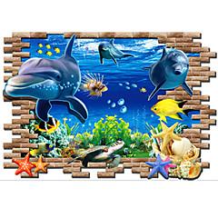 애니멀 / 카툰 / 정물화 / 패션 / 풍경 / 레져 벽 스티커 3D 월 스티커,PVC 100*70*0.1