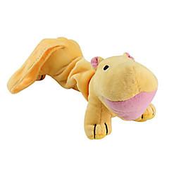 Psy Zabawki dla zwierząt Zabawki Pluszowe Hipcio Żółty Bawełna