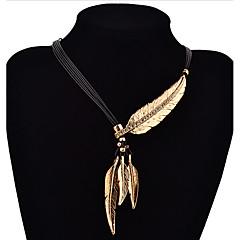Modische Halsketten Anhängerketten Schmuck Alltag / Normal Modisch versilbert / vergoldet Goldfarben / Silber 1 Paar Geschenk
