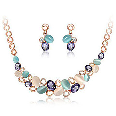 Hualuo® Cute Desgin Full color  Acrylic Jewelry Set Necklace/Earrings Daily / Casual 1pc