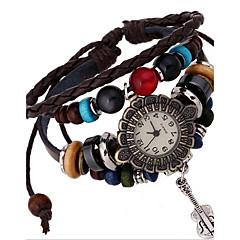 Damskie Modny Zegarek na bransoletce Cyfrowe Skóra Pasmo Artystyczny Brązowy