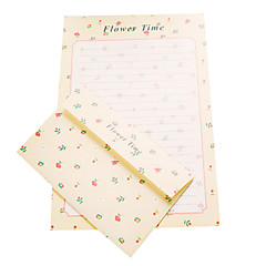 nouvelle lettre d'amour romantique 6 lettre +3 enveloppe (motif aléatoire, 17,5 * 11cm enveloppe, lettre 18,6 * 26cm)