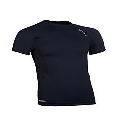 Herre Kort Ærme Løb T-Shirt Toppe Komprimering Sportstøj Løb