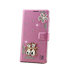 For Samsung Galaxy Note Card Holder / Rhinestone / with Stand / Flip Case Full Body Case 3D Cartoon Hard MetalNote 5 / Note 4 / Note 3 /