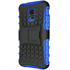 Tire Style Hybrid TPU PC Hard Bracket Protective Kick Stand Case For Samsung Galaxy S6 Edge/S6/S5/S5 Mini/S4