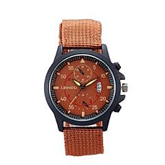 Men's Sport Watch Fashion Watch Casual Watch Swiss Designer Quartz Fabric Band Black Green